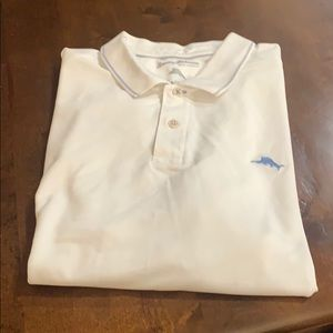 Tommy Bahama white polo -xxl